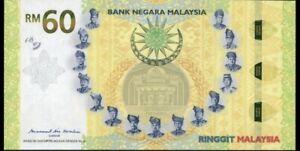Malaysia 60 Ringgit 2017 Commemorative Hybrid Note in Folder (UNC)