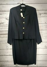 Brooks Brothers Suit Jacket Dress Sz 16 Black Rayon Linen - Belt and Lined NWT