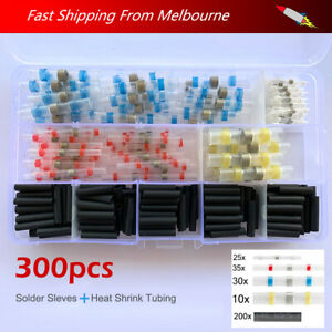 300/100 PCS Heat Shrink Sealed Solder Sleeve/Tubing,Wire Butt Connector / Refill