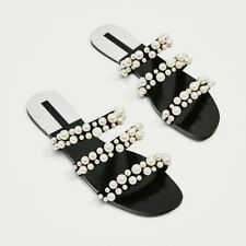 94426597b2c Zara Pearly Pearl Strappy Sandals Slides US 6.5   Euro 37   2600 201 BLOG