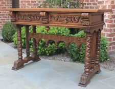 antique french oak gothic altar communion table sideboard sofa table drawers