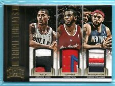 2012-13 Threads TRIPLE THREATS Derrick Rose - Chris Paul - Williams #/25 SP PATC