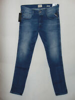 Replay ANBASS Stretch Slim Fit  RRP £125 Mens 12oz Deep Blue Comfort Denim Jeans