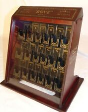 BOYE Sewing Needle Advertising Store Display Glass Metal Wood Cabinet 1920's