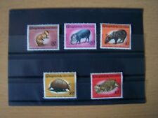 5 DIFFERENT GUYANA,THE 5 TOP VALUES OF THIS SET,U/MINT,EXCELLENT.