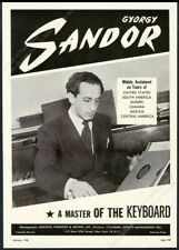 1948 Gyorgy Sandor photo piano recital tour booking trade print ad