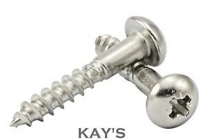 POZI ROUND HEAD WOOD SCREWS A2 STAINLESS STEEL POZIDRIVE DOME 3mm 3.5mm 4mm 5mm