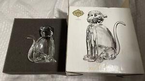 Shannon Crystal Monkey Crystal Sculpture by Godinger