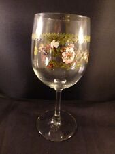 "Portmeirion BOTANIC GARDEN rosa canina dog rose Wine Glass  - 7 1/2"" - Set of 1"
