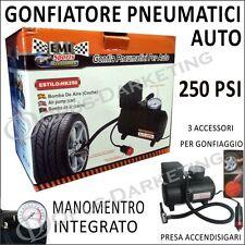 COMPRESSORE GONFIATORE 250 PSI MAX 18 BAR MINI PER PNUMATICI AUTO AUTOMOBILE