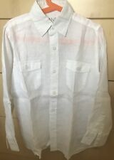 ONLY £15 !! Boys 100% LINEN Shirt ~ WHITE ~ Age 8 ~ Jasper Conran