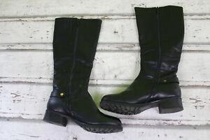 Boots 40 Stiefel Schuhe Damen schwarz gefüttert Herbst Winter Damenstiefel