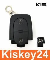 2Tasten Ersatz Klappschlüssel Gehäuse für VW AUDI A4 A6 A8 Passat Golf CR1620