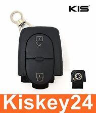 2tasten Remplacement Clé Rabattable Boîtier pour VW AUDI A4 A6 A8 Passat Golf