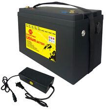12V 100Ah LiFePO4 1280Wh Lithium Ion Battery BMS Solar RV Marine Trolling Motor