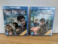 Harry Potter and The Deathly Hallows 3D Part 1 + 2 (Blu-Ray 3D, Promo Ver, 2011)