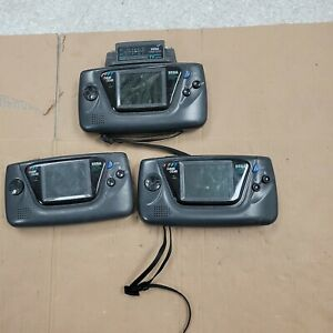 3 x Mixed  Sega Game Gear Consoles - 100% Untested  - SPARES OR REPAIR.