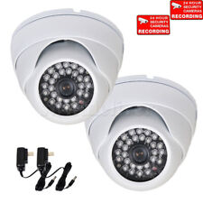 4 Dome Security Camera w// SONY Effio CCD 28 IR LED Infrared Wide Angle Power wtd