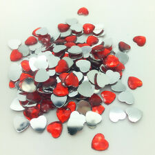 6mm8mm10mm DIY Heart-Shaped Resin Rhinestone Gems Flat Back Crystal Beads