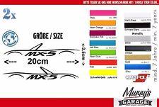 2x Mazda MX-5 Silhouette Aufkleber NB NA NC ND Sticker, Autocollat, Étiquette