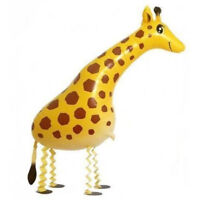 Huge Walking Pet Giraffe Mylar Balloon Zoo Jungle Party Decoration Supplies3CT