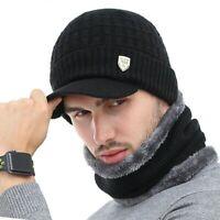 AKIZON Winter Hat Skullies Beanies Hats Winter Beanies For Men Women Wool Scarf