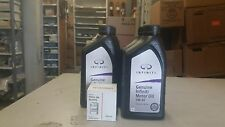 Infiniti and Nissan 6 quarts of oil plus oil filter 15208 65F0E OEM Genuine