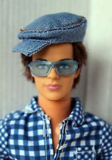 Ken Doll Fashionista Sporty Brunette Articulated Redressed Rare 2009