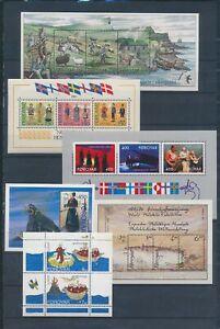 XC78394 Faroe Islands mixed thematics sheets MNH