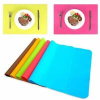 30x20cm Silicone Solid Insulation Bowl Placemats Dining Pad Coffee Table Mats S