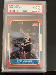 1986 Fleer Basketball Herb Williams #125 PSA 10 GEM MINT