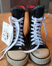 Dinger converse/van style wellington boots child's size UK10 / EU28  Real laces!