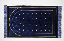 Seccade GEBETSTEPPICH 110cmx68cm Lüks Kadife Dunkelblau / Gelb  510 gramm