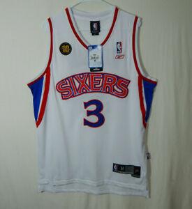 NWT Allen Iverson #3 Philadelphia 76ers NBA Basketball Jersey Reebok Swingman M