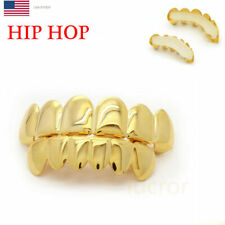 Popular 14K Gold Plated Hip Hop Rapper Mouth Caps Teeth Bottom Grillz Set Music
