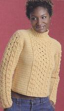 Crochet Pattern ~ LADIES BEAUTIFUL SWEATER Honeycomb & Popcorn ~ Instructions