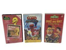 Sesame Street Big Bird Elmo & Ernie VHS Video Cassette Tapes X 3