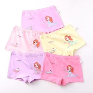 5er Unterhose Slip Schlüpfer Pants Panties Hipster Mädchen Unterwäsche Kinder