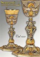 Calice SS. Trinità in argento fuso 925 mm cesellato melted silver chalice