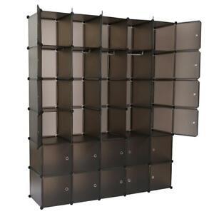 30 Storage Cube Organizer Plastic Cubby Shelving Drawer Unit DIY Modular Closet