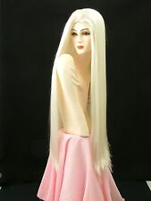 """Super Extra Long Wigs Show Girl Silky Straight  Pure White  35"""" MS3"""