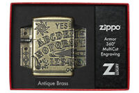 ZIPPO Ouija Board Hexenbrett Feuerzeug Multicut Tiefengravur - 60004897