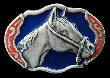 Boucle de Ceinture Cheval Western Horse Mere Equestrian Ranch Metal Belt Buckle