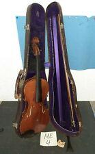 Schöne alte Geige Hersteller Unbekannt (Vogtland?) geflammter Boden.  (ME4)