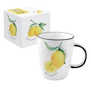 Jumbo Becher / Kaffeetasse Amalfi Zitrone Limone Porzellan, Easy Life