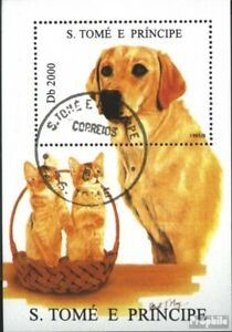 Sao Tome e Principe Block332 (kompl.Ausg.) gestempelt 1995 Hunde und Katzen