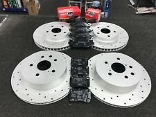LEXUS IS250 IS220D IS200D IS250C BRAKE DISC CROSS DRILLED BRAKE PAD FRONT REAR