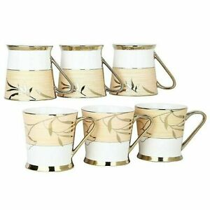 Indian traditional Fine Bone China Tea Cup Set of 6 MultiColor