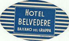 GG1073-HOTEL BELVEDERE, BASSANO DEL GRAPPA, LUGGAGE- LABEL- ETICHETTA