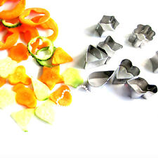 Mini 12Pcs/Set Stainless Steel Food Vegetable Cake Cheese Cutter Mold Tool